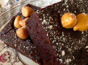 Butterscotch Black Bean Brownies