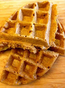 Pumpkin-Apple Pie Waffles