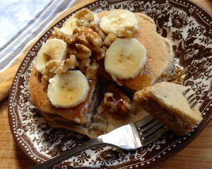 Hearty Banana Nut Pancakes