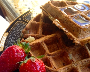 Ginger Spice Apple Waffles