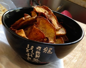 Cinnamon Sugar Butternut Squash Chips