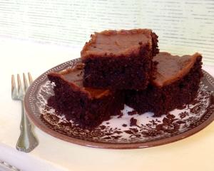 Healthy Salted Caramel Brownies