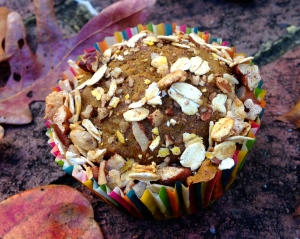 Pumpkin Muffins with Pecan Crumble