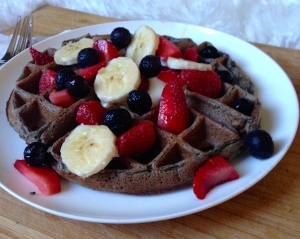 Gluten Free Blueberry Waffle for One