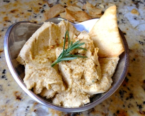 Simple Rosemary Hummus
