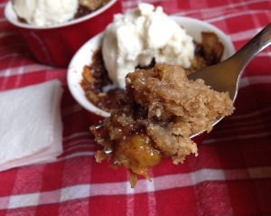 Sweet Peach Cobbler for Two