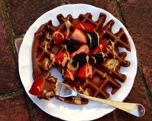 Peanut Butter Chocolate Belgian Waffle