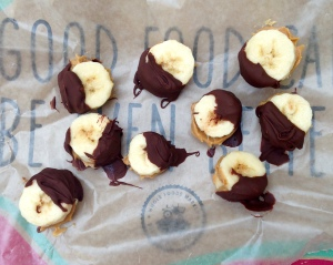 Peanut Butter Chocolate Banana Bites