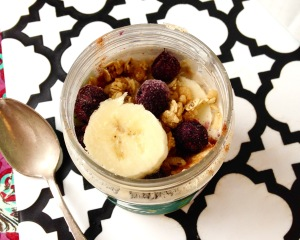 Overnight Oats in a Nut Butter Jar