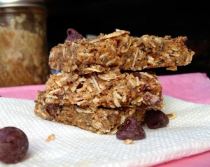 Dark Chocolate Almond Butter Energy Bars