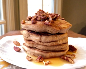 Hearty Maple Pecan Pancakes