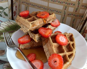 Vegan Buttermilk Waffles