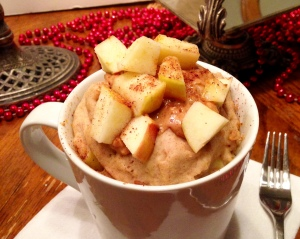 Peanut Butter Apple Muffin in a Mug