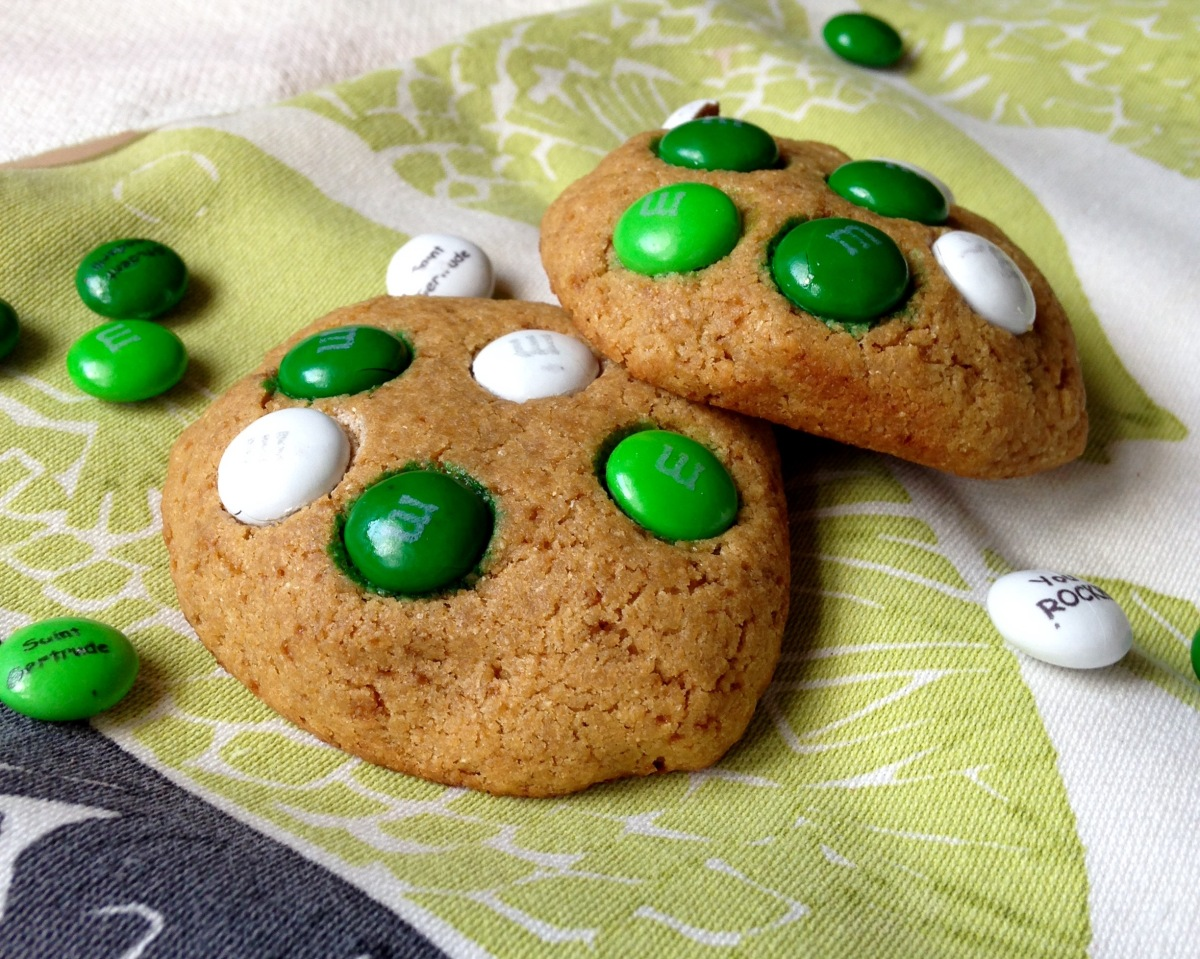 Soft and Chewy M&M Cookies for Two