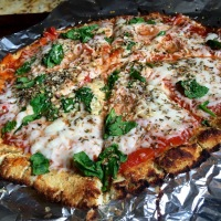 No-Yeast Coconut Flour Pizza Crust